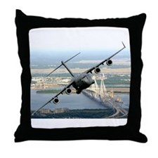 America's Gateway to the Worl Throw Pillow