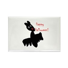 Happy Halloween Bat Rectangle Magnet (10 pack)