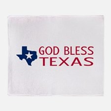 God Bless Texas Throw Blanket
