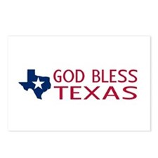 God Bless Texas Postcards (Package of 8)