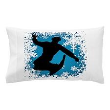 SNOWBOARDING (Blue) Pillow Case