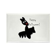 Happy Halloween Bat Rectangle Magnet