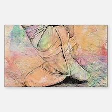 Cute Ballet dance Sticker (Rectangle)
