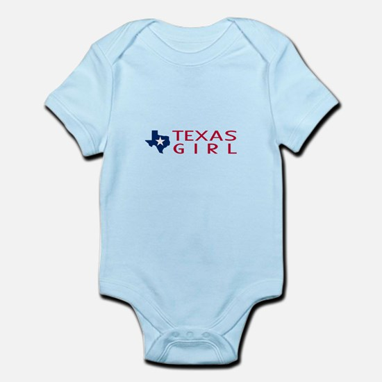 Texas Girl Baby Light Bodysuit
