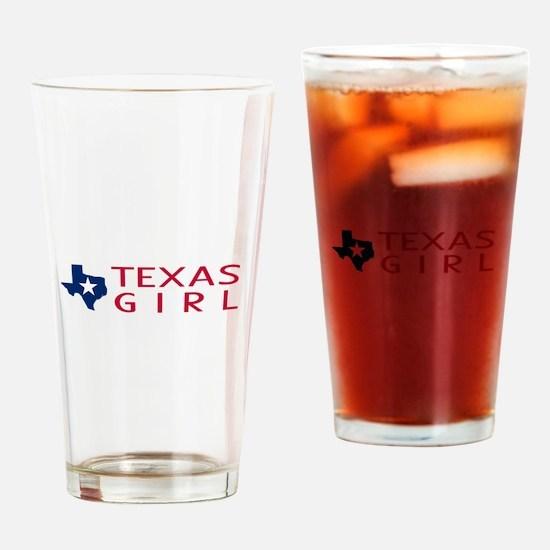 Texas Girl Drinking Glass
