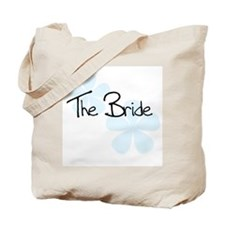 The Bride Blue Flowers Tote Bag