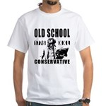Old School Conservative White T-Shirt