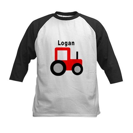 Logan - Red Tractor Kids Baseball Jersey