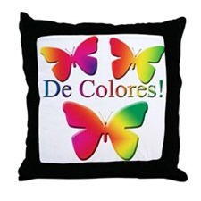 Butterfly DeColores Throw Pillow
