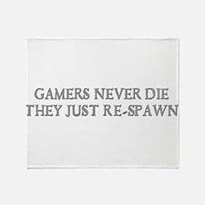Gamers Re-Spawn Throw Blanket