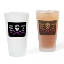 Asexual Pirate Flag Drinking Glass