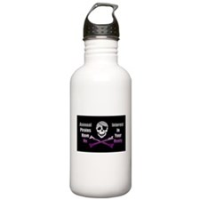Asexual Pirate Flag Sports Water Bottle
