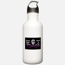 Asexual Pirate Flag Water Bottle