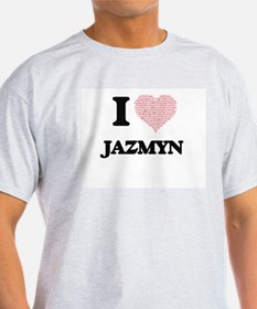 I love Jazmyn (heart made from words) desi T-Shirt