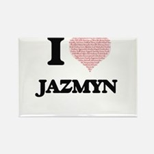 I love Jazmyn (heart made from words) desi Magnets