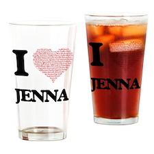 Cute Jenna Drinking Glass