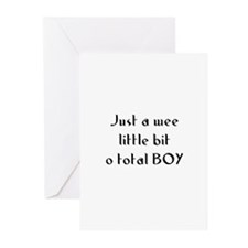 Just a wee little bit o total Greeting Cards (Pk o