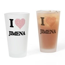 I love Jimena (heart made from word Drinking Glass