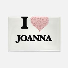 I love Joanna (heart made from words) desi Magnets