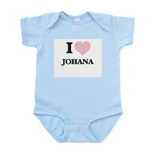 I love Johana (heart made from words) de Body Suit