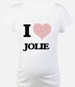 I love Jolie (heart made from wo Shirt