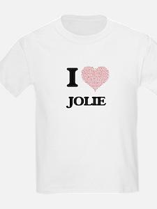 I love Jolie (heart made from words) desig T-Shirt