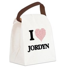 I love Jordyn (heart made from wo Canvas Lunch Bag