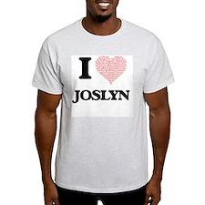 I love Joslyn (heart made from words) desi T-Shirt