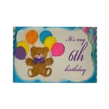 Boy 6th Birthday Rectangle Magnet