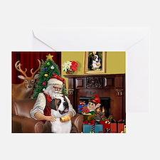 Santa's Saint Bernard Greeting Card