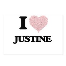 I love Justine (heart mad Postcards (Package of 8)