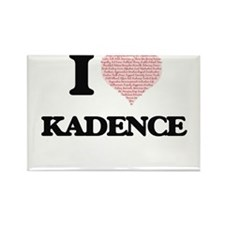 I love Kadence (heart made from words) des Magnets