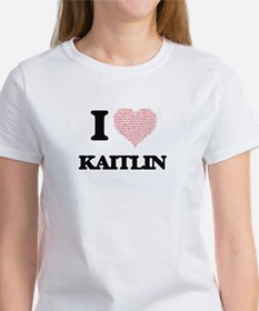 I love Kaitlin (heart made from words) des T-Shirt