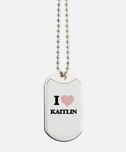 I love Kaitlin (heart made from words) de Dog Tags