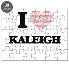 I love Kaleigh (heart made from words) desi Puzzle