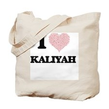 I love Kaliyah (heart made from words) de Tote Bag