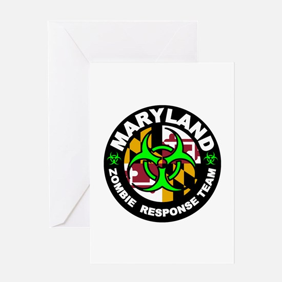 MD ZRT Green Greeting Cards