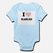 I love Karlee (heart made from words) de Body Suit