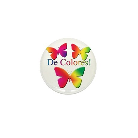 Butterfly DeColores Mini Button (10 pack)