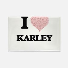 I love Karley (heart made from words) desi Magnets