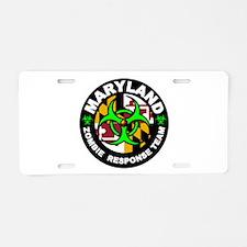 MD ZRT Green Aluminum License Plate
