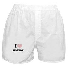 I love Kassidy (heart made from words Boxer Shorts