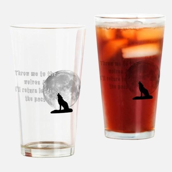 Funny Grey wolf Drinking Glass