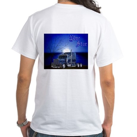 Blue Star White T-Shirt