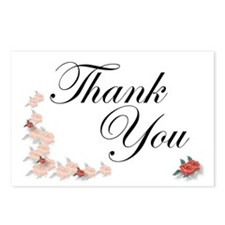 Roses Thank You Postcards (Package of 8)
