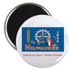 Milwaukee WI Flag Magnet