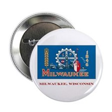 Milwaukee WI Flag Button