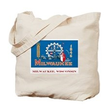 Milwaukee WI Flag Tote Bag