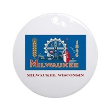Milwaukee WI Flag Ornament (Round)