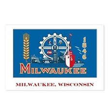 Milwaukee WI Flag Postcards (Package of 8)